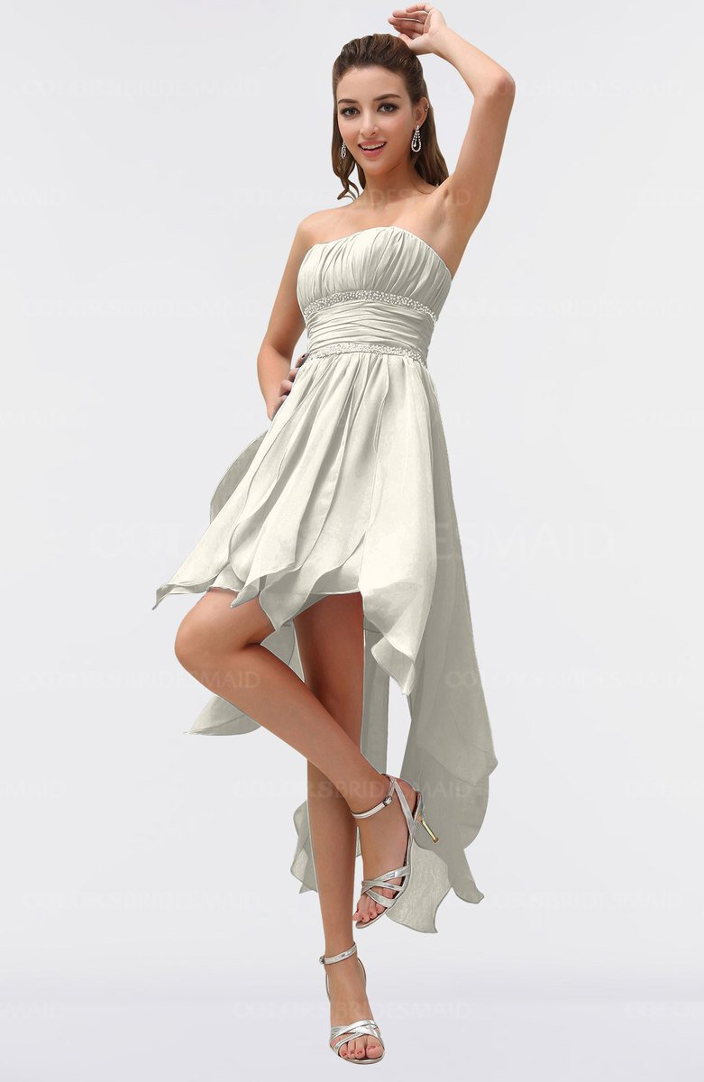 White Dress with Ruching