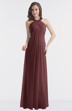 ColsBM Maeve Burgundy Classic A-line Halter Backless Floor Length Bridesmaid Dresses