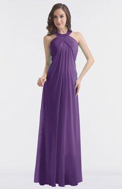 fc7484f3d2cfb ColsBM Maeve Dark Purple Classic A-line Halter Backless Floor Length Bridesmaid  Dresses