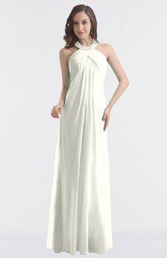 ColsBM Maeve Ivory Classic A-line Halter Backless Floor Length Bridesmaid Dresses