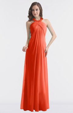 77baaec3a59 Red Bridesmaid Dresses Persimmon color Simple   Red Gowns ...