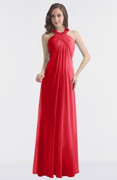 ColsBM Maeve Red Classic A-line Halter Backless Floor Length Bridesmaid Dresses