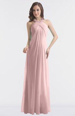 Colsbm Maeve Silver Pink Clic A Line Halter Backless Floor Length Bridesmaid Dresses