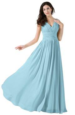 Wedding Bridesmaid Dresses and Gowns Aqua color - ColorsBridesmaid