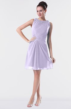 5bf2f213e22 ColsBM Fatima Light Purple Modest Sheath Sleeveless Knee Length Beaded  Homecoming Dresses