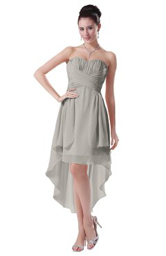 ColsBM Victoria Ashes Of Roses Hawaiian A-line Sleeveless Chiffon Tea Length Ruching Evening Dresses