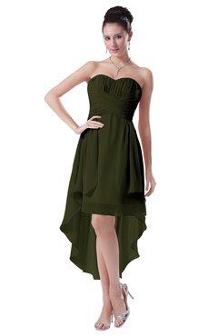 ColsBM Victoria Beech Hawaiian A-line Sleeveless Chiffon Tea Length Ruching Evening Dresses