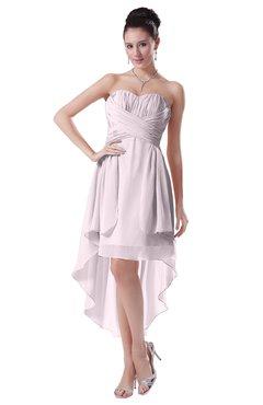 ColsBM Victoria Blush Hawaiian A-line Sleeveless Chiffon Tea Length Ruching Evening Dresses