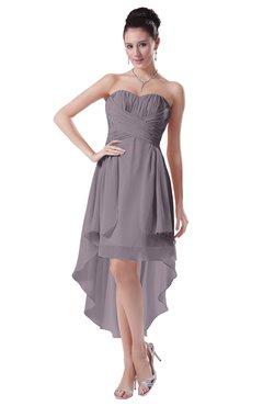 ColsBM Victoria Cameo Hawaiian A-line Sleeveless Chiffon Tea Length Ruching Evening Dresses