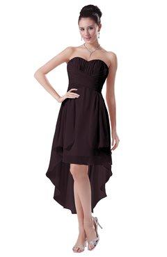 ColsBM Victoria Italian Plum Hawaiian A-line Sleeveless Chiffon Tea Length Ruching Evening Dresses