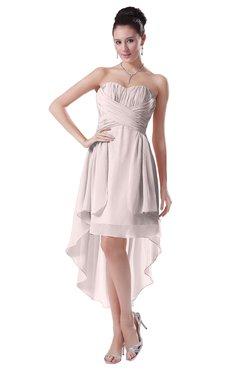 ColsBM Victoria Light Pink Hawaiian A-line Sleeveless Chiffon Tea Length Ruching Evening Dresses