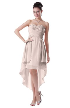 ColsBM Victoria Silver Peony Hawaiian A-line Sleeveless Chiffon Tea Length Ruching Evening Dresses