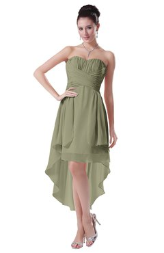 ColsBM Victoria Sponge Hawaiian A-line Sleeveless Chiffon Tea Length Ruching Evening Dresses