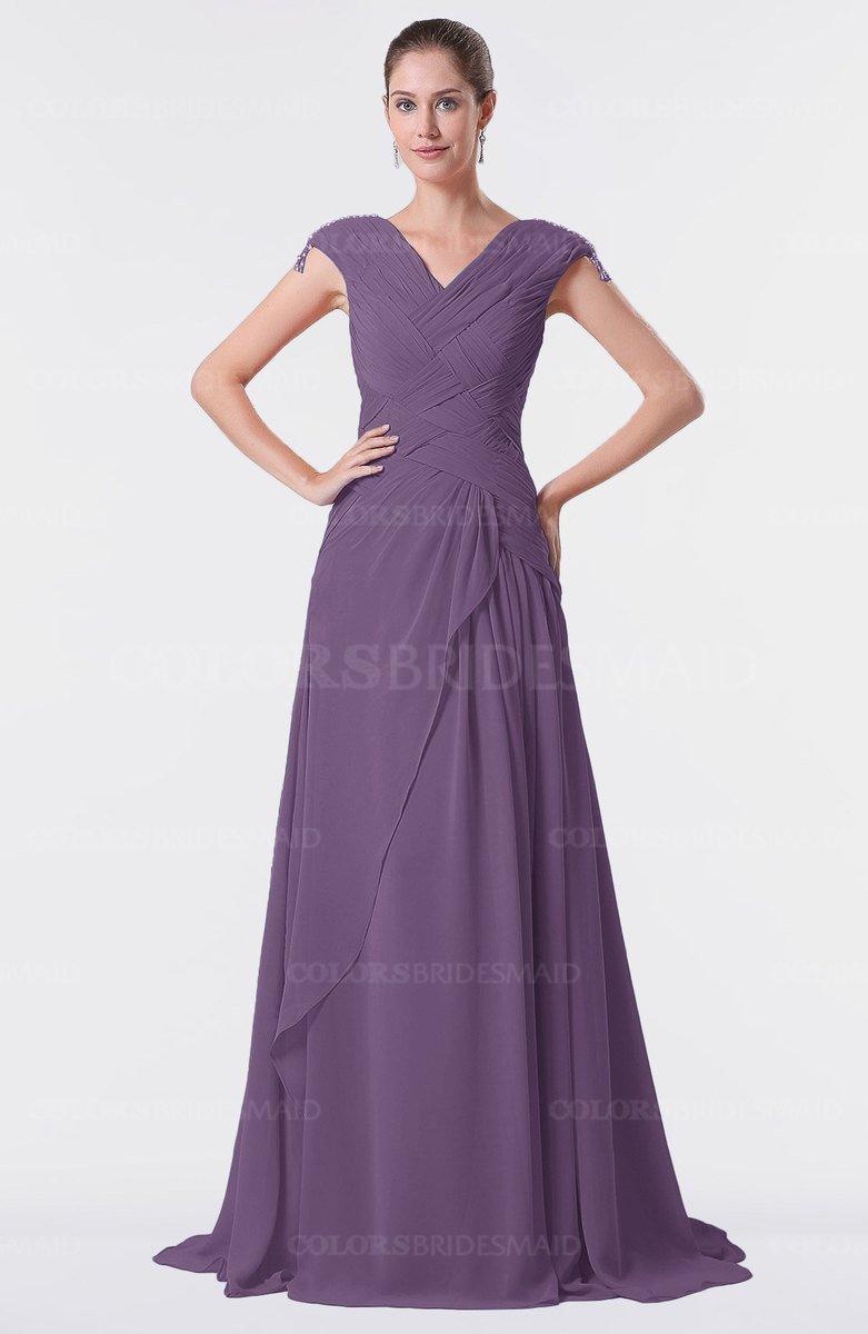 ColsBM Valerie Chinese Violet Bridesmaid Dresses - ColorsBridesmaid