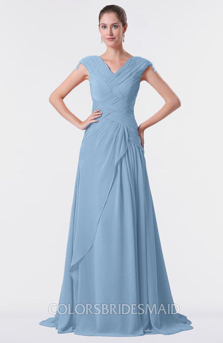 76bf1bd5c7 Dusty Blue Lace Bridesmaid Dresses
