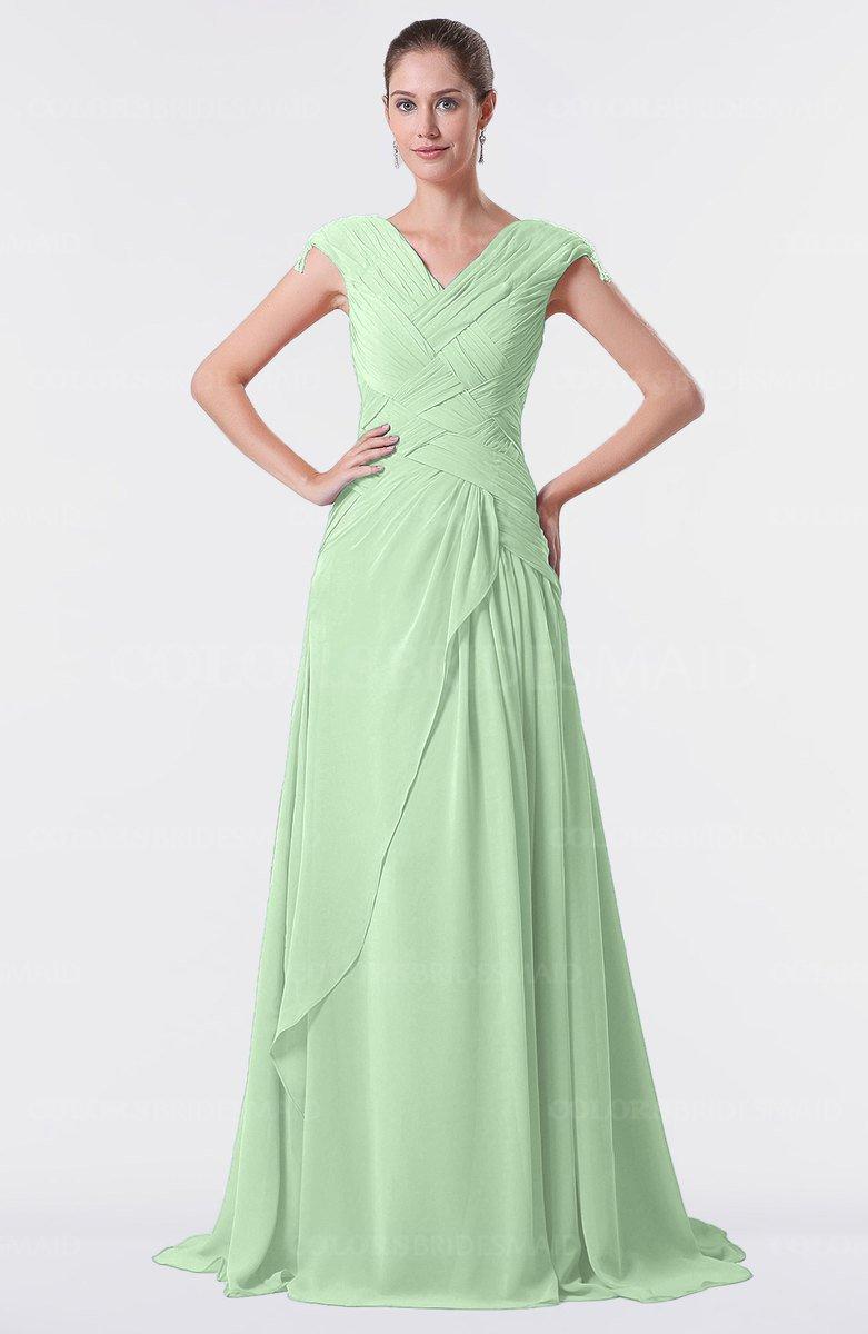 ColsBM Valerie Light Green Bridesmaid Dresses - ColorsBridesmaid