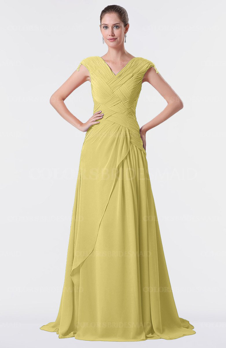 ColsBM Valerie Misted Yellow Bridesmaid Dresses - ColorsBridesmaid