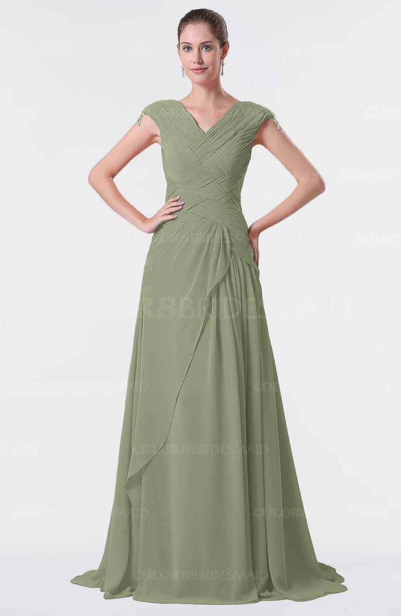 ColsBM Valerie Moss Green Bridesmaid Dresses - ColorsBridesmaid