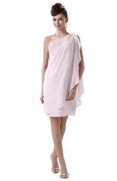 ColsBM Layla Blush Informal Sheath Backless Chiffon Knee Length Paillette Homecoming Dresses