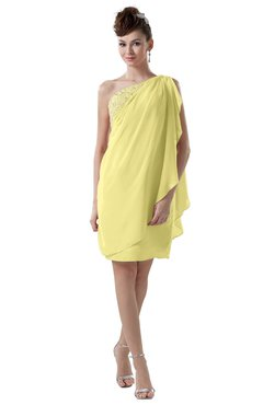 ColsBM Layla Daffodil Informal Sheath Backless Chiffon Knee Length Paillette Homecoming Dresses