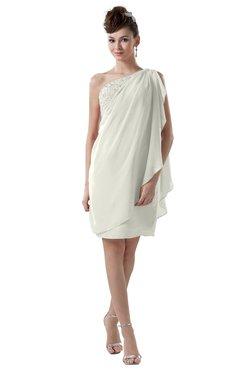 ColsBM Layla Ivory Informal Sheath Backless Chiffon Knee Length Paillette Homecoming Dresses