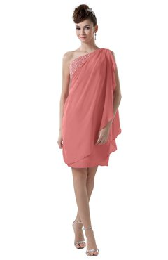 ColsBM Layla Lantana Informal Sheath Backless Chiffon Knee Length Paillette Homecoming Dresses
