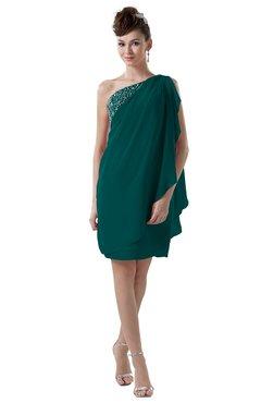 ColsBM Layla Shaded Spruce Informal Sheath Backless Chiffon Knee Length Paillette Homecoming Dresses