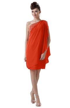 ColsBM Layla Tangerine Tango Informal Sheath Backless Chiffon Knee Length Paillette Homecoming Dresses