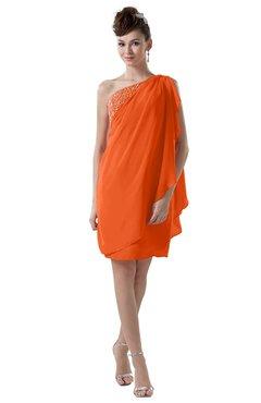 ColsBM Layla Tangerine Informal Sheath Backless Chiffon Knee Length Paillette Homecoming Dresses