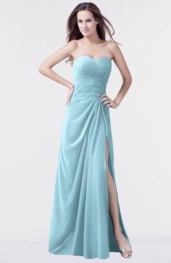 ColsBM Mary Aqua Elegant A-line Sweetheart Sleeveless Floor Length Pleated Bridesmaid Dresses