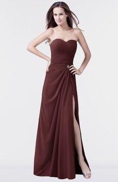 ColsBM Mary Burgundy Elegant A-line Sweetheart Sleeveless Floor Length Pleated Bridesmaid Dresses