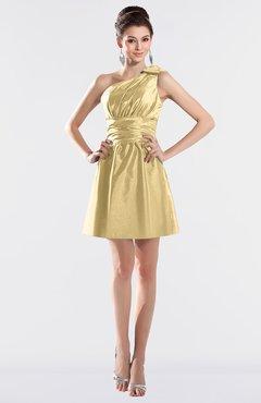 8407d3e8bb8 ColsBM Kailani Light Yellow Cute A-line Asymmetric Neckline Half Backless  Short Ruching Bridesmaid Dresses