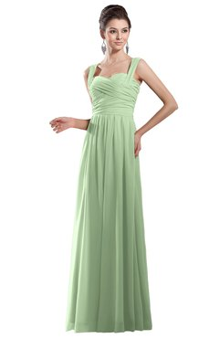 Colsbm Alena Pale Green Simple A Line Sleeveless Chiffon Floor Length Pleated Evening Dresses