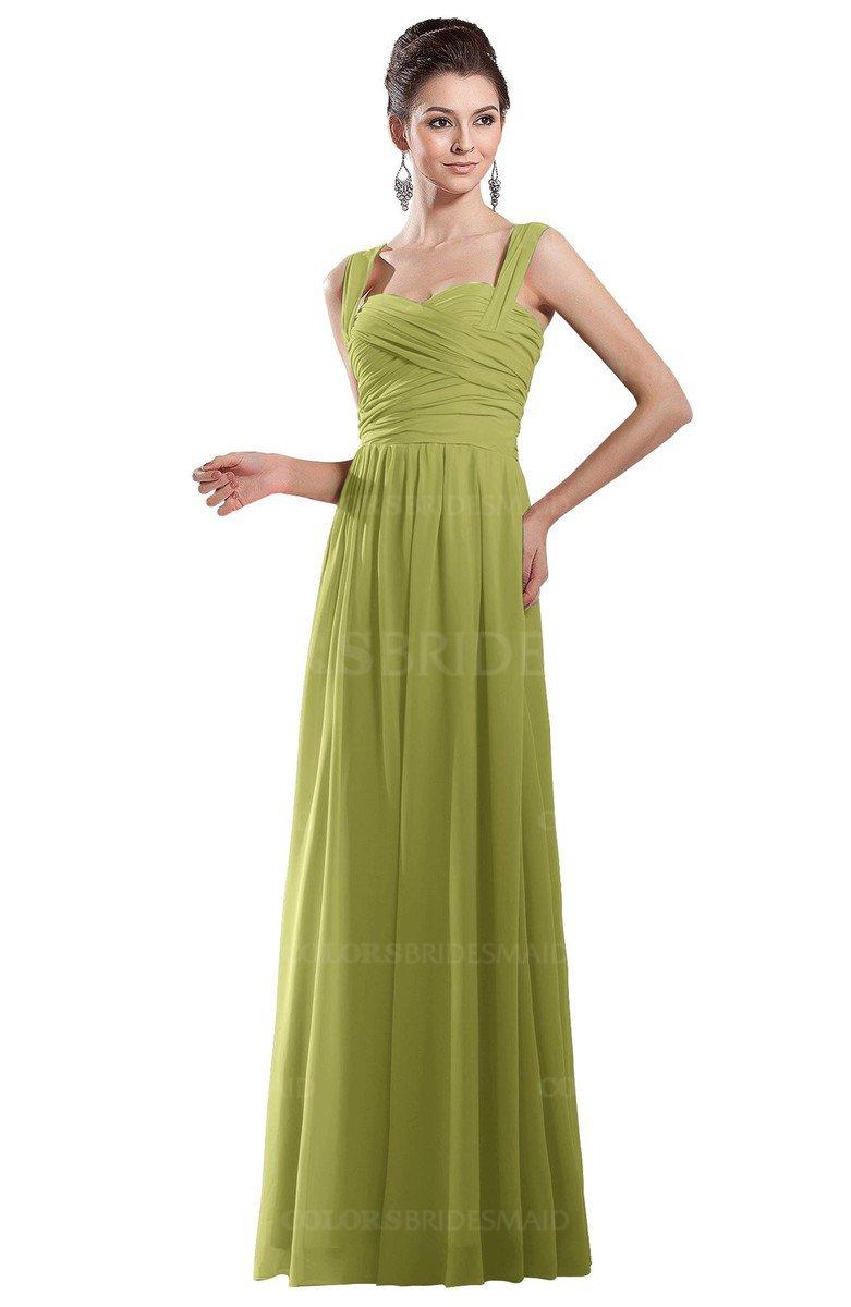 3bfccbc1b657 ColsBM Alena Pistachio Simple A-line Sleeveless Chiffon Floor Length  Pleated Evening Dresses