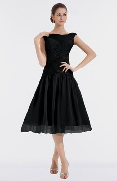 ColsBM Alissa Black Cute A-line Sleeveless Knee Length Ruching Bridesmaid  Dresses 41fd140a9