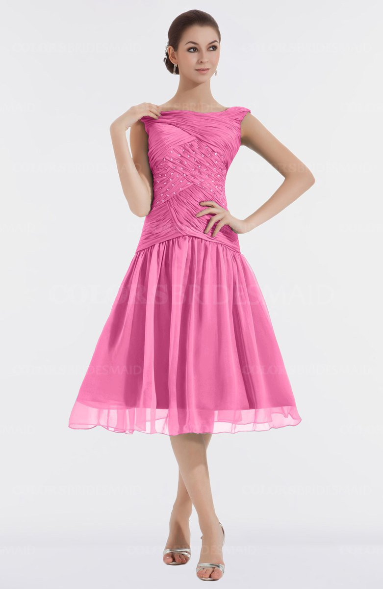 ColsBM Alissa Carnation Pink Bridesmaid Dresses - ColorsBridesmaid