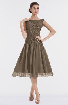 c1cb513de6b9 ColsBM Alissa Chocolate Brown Cute A-line Sleeveless Knee Length Ruching Bridesmaid  Dresses