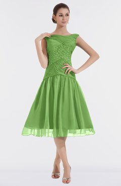 colsbm alissa clover cute a line sleeveless knee length ruching bridesmaid dresses - Clover Color