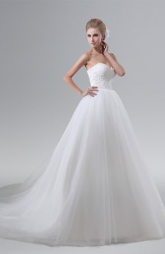 e66cb20b2224 ColsBM Joslyn White Gorgeous Church Sleeveless Backless Chapel Train Lace Bridal  Gowns