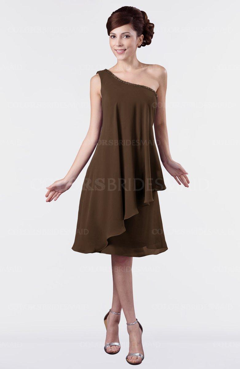 Pretty Brown Bridesmaid Dresses