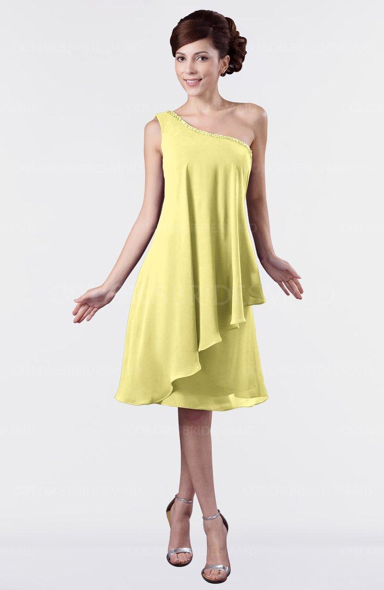 ColsBM Mallory Pastel Yellow Bridesmaid Dresses - ColorsBridesmaid