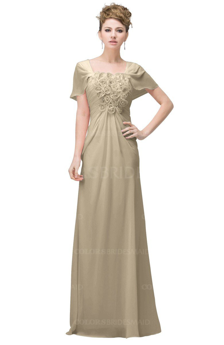ae1dd5e63d6 ColsBM Luna Champagne Casual A-line Square Short Sleeve Floor Length Plus  Size Bridesmaid Dresses