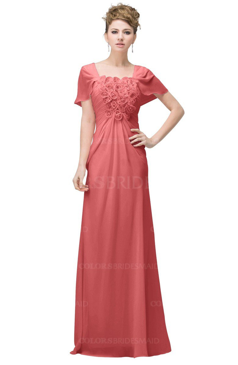 ColsBM Luna Coral Bridesmaid Dresses - ColorsBridesmaid