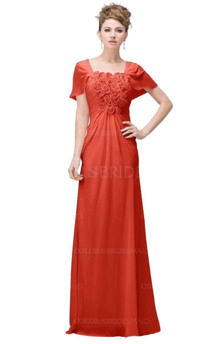 ColsBM Luna Living Coral Bridesmaid Dresses - ColorsBridesmaid