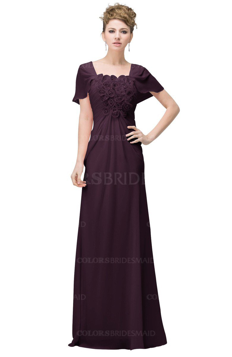 Colsbm luna plum bridesmaid dresses colorsbridesmaid colsbm luna plum casual a line square short sleeve floor length plus size bridesmaid dresses ombrellifo Gallery