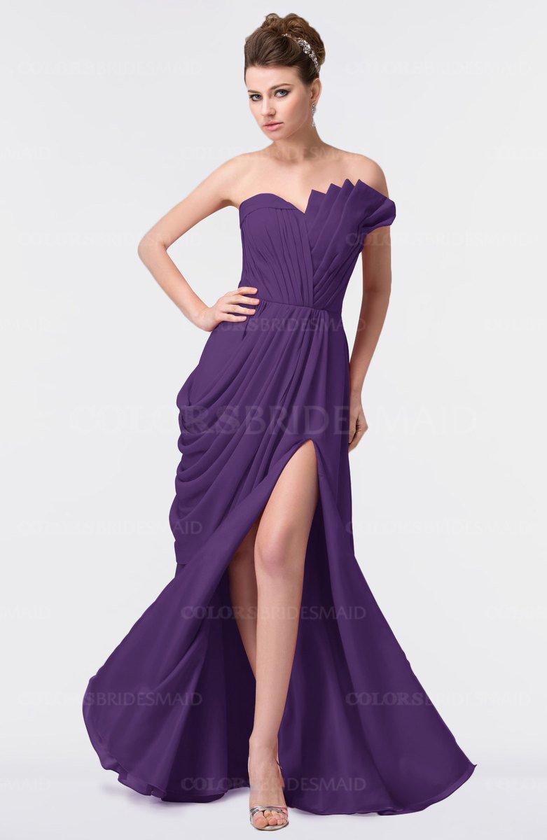 ColsBM Gwen Dark Purple Bridesmaid Dresses - ColorsBridesmaid