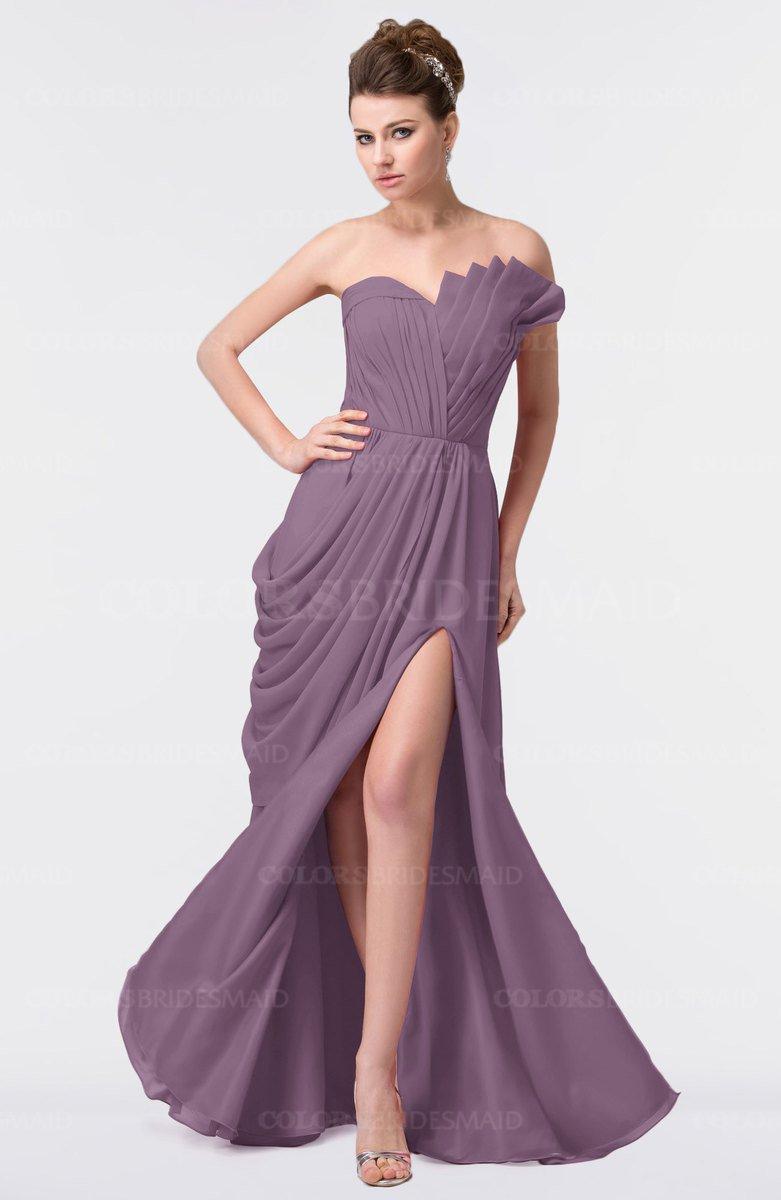 Colsbm Gwen Mauve Bridesmaid Dresses Colorsbridesmaid