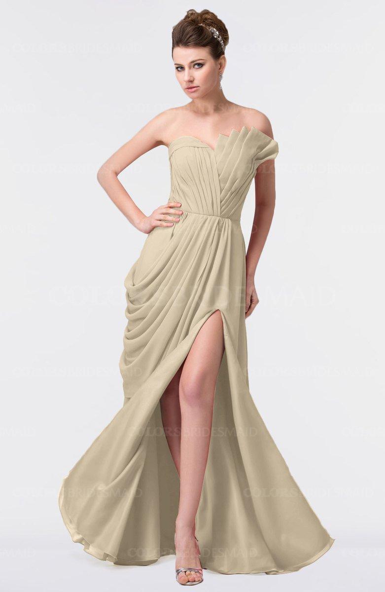 3abea8ea6761 ColsBM Gwen Novelle Peach Elegant A-line Strapless Sleeveless Backless  Floor Length Plus Size Bridesmaid