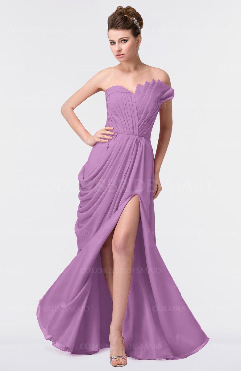 50229801ea22 ColsBM Gwen Orchid Elegant A-line Strapless Sleeveless Backless Floor Length  Plus Size Bridesmaid Dresses