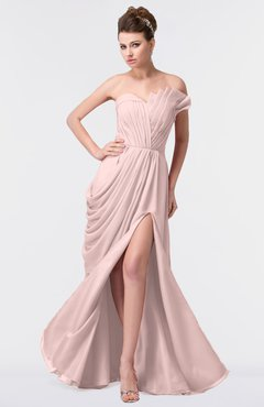 8da8630bd45 ColsBM Gwen Pastel Pink Elegant A-line Strapless Sleeveless Backless Floor  Length Plus Size Bridesmaid